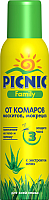 Спрей от насекомых PICNIC Family от комаров (150мл) -