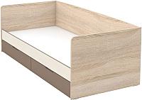 Кровать-тахта Империал Татани 90 с ящиками (дуб сонома/латте/крем) -
