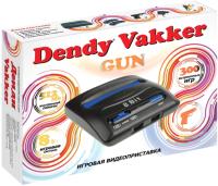 Игровая приставка Dendy Vakker 300 игр + световой пистолет -