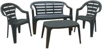 Комплект садовой мебели Ipae Progarden Madura Set / MAD035AN (антрацит) -