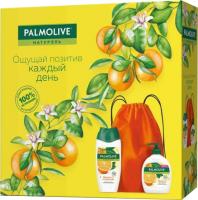 Набор косметики для тела Palmolive Натурэль гель-крем для душа 250мл+крем-мыло для рук 300мл+сумка -