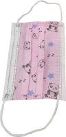 Маска защитная одноразовая Profi Розовые панды трехслойная (детская) -