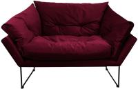 Кресло мягкое Brioli Анико (В48/вишневый) -