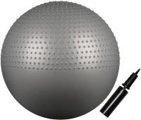 Фитбол массажный Indigo Anti-Burst IN003 (75см, серый металлик) -