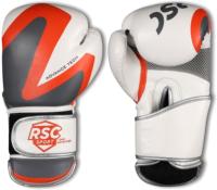 Боксерские перчатки RSC PU 2t c 3D 2018-3 (р-р 14, белый/серый) -