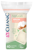Ватные диски Cleanic Naturals Virgin Cotton квадратные (40шт) -