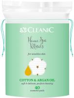 Ватные диски Cleanic Home SPA Rituals с маслом арганы для чувств кожи овал (40шт) -