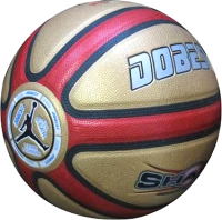 Баскетбольный мяч Dobest PU 810RG PK (красный/золото) -