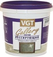 Защитно-декоративный состав VGT Gallery Лессирующий (900г, полупрозрачный серебристо-белый) -