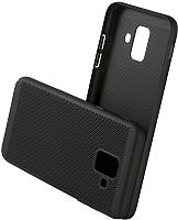 Чехол-накладка Case Matte Natty для Galaxy A6 (матовый черный) -