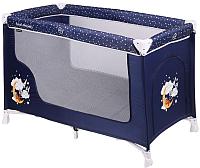 Кровать-манеж Lorelli San Remo 1 Layer Blue Good Night Bear (10080011804) -
