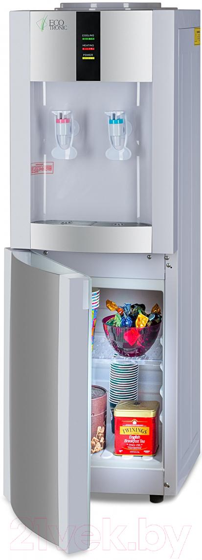 Купить Кулер для воды Ecotronic, V21-LE со шкафчиком (белый), Китай