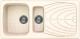 Мойка кухонная Elleci Master 475 Bianco Antico G62 / LGM47562 -