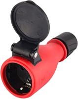Розетка переносная Electraline 55083 (красный/черный) -