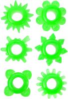 Набор эрекционных колец ToyFa 888200-10 (зеленый) -