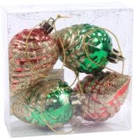 Набор ёлочных игрушек Белбогемия 25555494 / 86547 (4шт) -