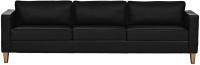Диван Brioli Вернер трехместный (L22/черный) -
