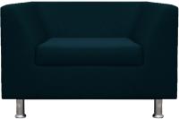 Кресло мягкое Brioli Дедрик (J17/темно-синий) -