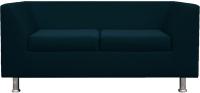 Диван Brioli Дедрик двухместный (J17/темно-синий) -