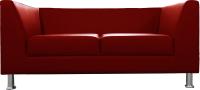 Диван Brioli Дедрик двухместный (L19/красный) -