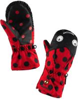 Варежки лыжные Luckyboo Play (S, черный/красный) -