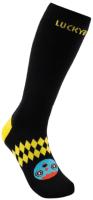 Термоноски детские Luckyboo Wool (M, черный/желтый) -