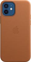 Чехол-накладка Apple Leather Case With MagSafe для iPhone 12/12Pro /MHKF3 (Saddle Brown) -