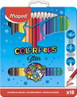 Набор цветных карандашей Maped Color Peps / 832015 (18шт) -