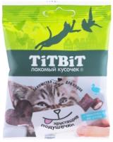 Лакомство для кошек TiTBiT Хрустящие подушечки с паштетом из утки / 13908 (30г) -