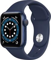 Умные часы Apple Watch Series 6 GPS 44mm / M00J3 (алюминий голубой/темный ультрамарин) -