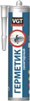 Герметик акриловый VGT Санитарный для наружных и внутренних работ (400г, белый) -