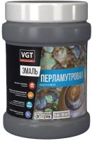 Эмаль VGT ВД-АК-1179 Универсальная Перламутровая (1кг, серебристо-белый) -