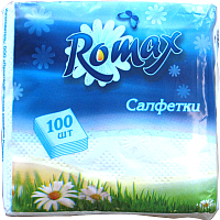 Бумажные салфетки Romax Белые (100шт) -