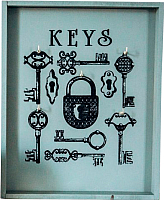 Ключница настенная Grifeldecor Амбарный замок / BZ172-4C43 -