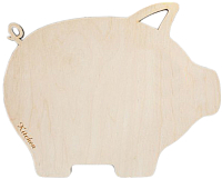 Разделочная доска Grifeldecor Свинка / BZ181-16C153 -