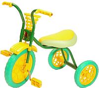 Детский велосипед Самокатыч Зубренок (зеленый/желтый) -