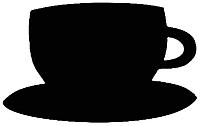 Магнит грифельный Grifeldecor Чашка кофе / BZ177-6B88 -