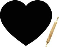 Магнит грифельный Grifeldecor Сердце / BZ177-6B116 -