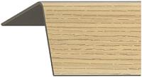 Уголок отделочный Rico Moulding 123 Дуб Золотистый с тиснением (20x20x2700) -