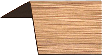 Уголок отделочный Rico Moulding 124 Дуб Янтарный с тиснением (20x20x2700) -