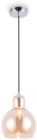 Потолочный светильник Ambrella TR3517 CH/TI (хром/янтарь) -