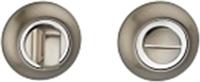 Фиксатор дверной защелки VELA WC-Round (матовый никель/хром) -