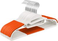 Набор вешалок-плечиков ВешалкиБел К002-5 с прорезиненными плечиками (5шт, оранжевый) -