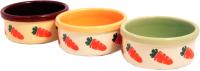 Миска для грызунов Rosewood Морковка / 06717/RW (керамическая) -