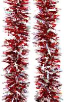 Мишура MONAMI 75739 (красный/серебристый, 2м) -