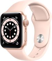 Умные часы Apple Watch Series 6 GPS 40mm / MG123 (алюминий золотой/розовый песок) -