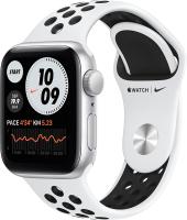 Умные часы Apple Watch SE Nike+ GPS 44mm / MYYH2 (алюминий серебристый/чистая платина/черный) -