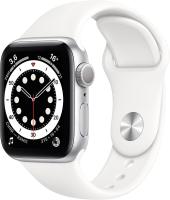Умные часы Apple Watch Series 6 GPS 44mm / M00D3 (алюминий серебристый/белый спортивный) -