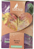 Набор масок для лица Sativa с сияющим эффектом Комплимент Милой леди -