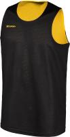 Майка баскетбольная 2K Sport Training / 130062 (S, черный/желтый) -